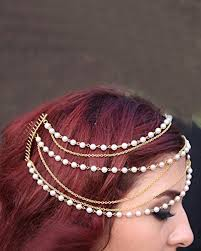 hair accessories for hair forever trendy pearl chain layers with hair comb hair