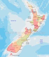 New Zealand On World Map New Zealand Political Map
