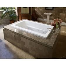 American Standard Cambridge Bathtub Master Bath Shop Jacuzzi 72 In L X 42 In W X 21 In H Primo White