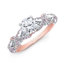 pink gold engagement rings and white gold pink and white diamond engagement ring