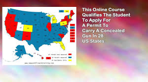 Utah Concealed Carry Map by Online Concealed Carry Permit Class 28 States Youtube