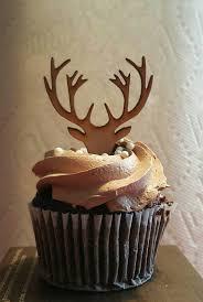 deere cake toppers custom listing 60 wooden deer cupcake topper deer antlers