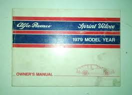 1979 alfa romeo alfetta sprint veloce gt owner u0027s manual u2022 69 00