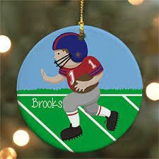 football ornaments personalized ornaments