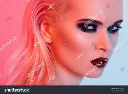 punk rock style halloween makeup fashion stock photo 87726538