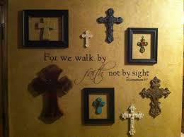 crucifix wall decor wall of crosses i like the idea of adding frames around some of
