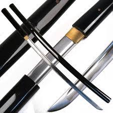 musashi handmade black shirasaya samurai katana sword in los