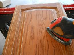 how to refinish oak kitchen cabinets using chalk paint for oak kitchen cabinets test door u2013 front