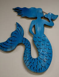 carved wood mermaid for your wall picture of pleasure tiki s inc