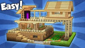 build a house minecraft advanced starter house tutorial how to build a house