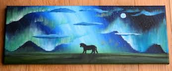 how to paint northern lights northern lights artwork online sarah kay arts shetland inspired
