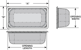 Table Size Super Pan Flange And Opening Sizes