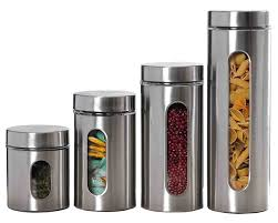 stainless steel kitchen canister sets stainless steel canisters wayfair basics 4 piece stainless steel kitchen canister set