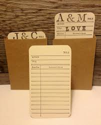 library cards and pockets library book checkout cards with card pockets for wedding or