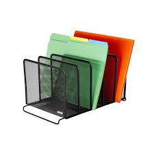 Safco Mesh Desk Organizer by Review Rolodex Mesh Collection Stacking Sorter 5 Section Black