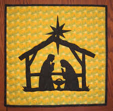 nativity mini quilt from quilts by elena silhouette applique wall