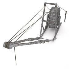 old wooden crane 3d model cgtrader