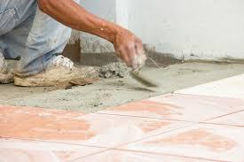installing bathroom floor tile on concrete wood floors