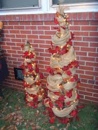 my fall trees made of tomato cages burlap and vine saw something