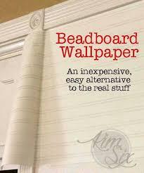 fireplace makeover using beadboard wallpaper textured wallpaper