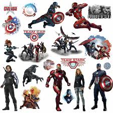 roommates marvel captain america civil war peel u0026 stick wall decal