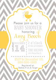 baby shower invitations yellow and gray elephant baby shower