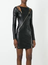 jitrois zip detail bodycon dress noir women clothing cocktail