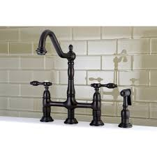 kitchen faucets bronze kingston brass ks1275talbs 8 centerset kitchen faucet with brass