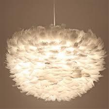 suspension luminaire chambre moderne blanc plume pendentif le salon chambre d hôtel salon
