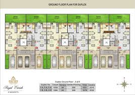 Garden Apartment Floor Plans Layout Plan For Row House