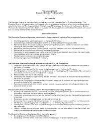 resume sle in pdf executiver description template executive director resume sle