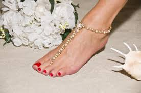 barefoot sandals wedding foot jewelry for weddings bridal elegance barefoot sandals