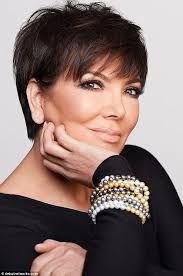 a line haircuts for 60 yesr olds kris jenner dons a pearl necklace as she launches a jewelry line