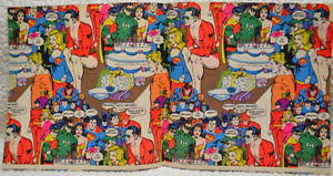 comic wrapping paper dc comics wrapping paper 1980 w legion of superheroes