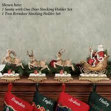 santa with reindeer holders
