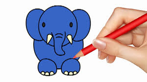 teaching drawing elephant coloring pages for kids how to draw a