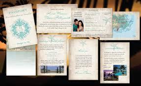 Seeking Destination Wedding Passport Wedding Invitations Paradise Destination Wedding