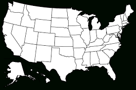 Free State Maps by Us States Blank Map Map Of Usa State