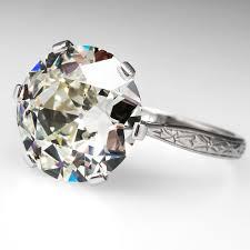 antique diamond engagement rings a celebrity worthy antique 5 carat diamond engagement ring