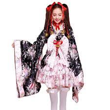cosplay halloween fancy dress japanese sakura kimono
