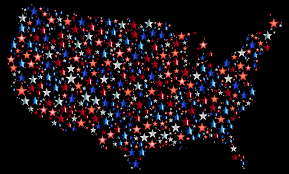 United States Map Art by Clipart United States Map Prismatic Stars 4 With Background