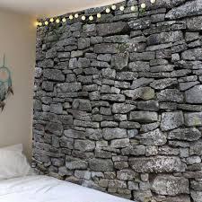 stone print waterproof wall decor tapestry gray w inch l inch in stone print waterproof wall decor tapestry gray w79 inch l71 inch