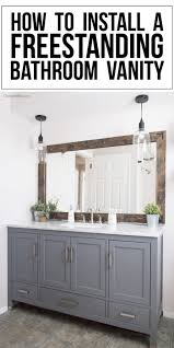 stand alone kitchen sink unit how to install a freestanding bathroom vanity cherished bliss