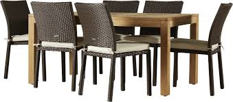 7 Piece Patio Dining Set - beachcrest home elsmere 7 piece outdoor dining set with cushions