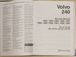 service manual volvo 240 u2014 drive2