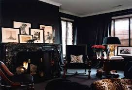 awesome black living rooms on living room with black wallpaper 18