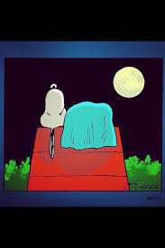snoopy on his dog house nite nite snoopy snoopy brown and peanuts