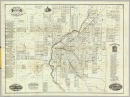 denver schools map map of denver colorado thayer h l 1879