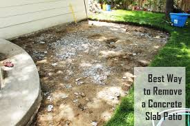 Backyard Concrete Slab Best Way To Remove Concrete Slabs On A Patio
