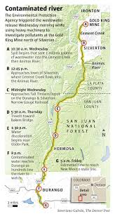Map Of Durango Mexico by Animas River Mine Spill La Plata And Durango Declare State Of